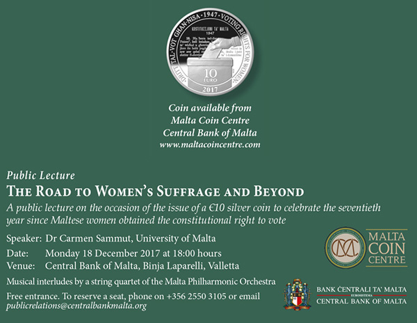 Public Lecture: The Road to Women's Suffrage and Beyond