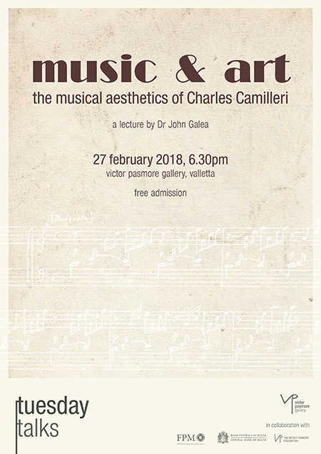 Tuesday Talks: Music & Art: the musical aesthetics of Charles Camilleri - a lecture by Dr John Galea