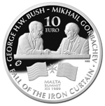 Bush-Gorbachev Malta Summit silver coin