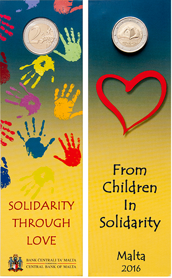 Solidarity Through Love – Commemorative €2 coins under the programme 'From Children in Solidarity'
