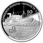 Commemoration of the St Marija Convoy and the George Cross Award - silver coin
