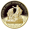 Coins commemorating Giuseppe Mazzuoli's sculpture 'The Baptism of Christ'
