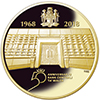 Gold coin commemorating the 50th anniversary of the Central Bank of Malta