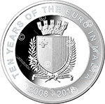 Issue of Coin Commemorating the Ten Years of the Euro in Malta
