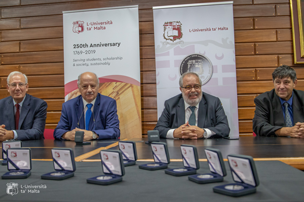 Coin launched to mark 250th anniversary of University of Malta
