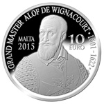 400th Anniversary of the Wignacourt Aqueduct silver coin - obverse