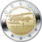 €2 Commemorative Coin - Centenary of the first flight from Malta
