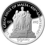 450th Anniversary of the Great Siege of Malta silver coin