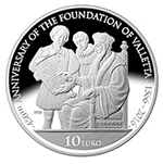 450th anniversary of the foundation of Valletta silver coin