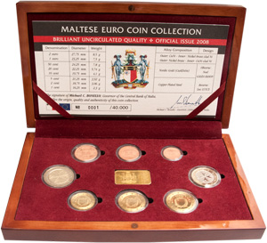 The first official Maltese euro set 2008