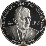 25th Anniversary of Malta's Independence silver coin
