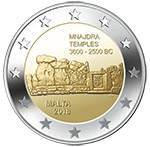 €2 commemorative coin - Mnajdra Temples